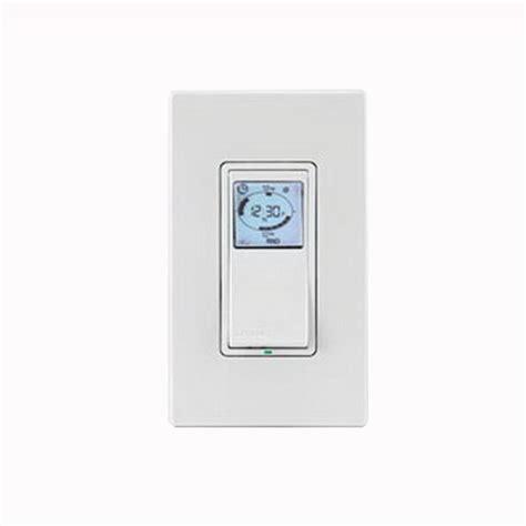 leviton programmable light switch leviton vpt24 1pz vizia rf decora indoor timer switch