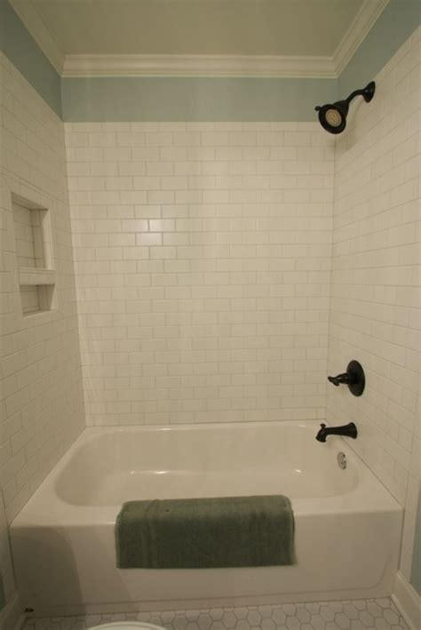 Tile Bathroom Walls Or Not note tiles do not go to ceiling allowing for wall