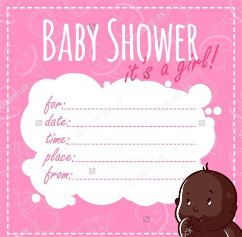 baby shower invitations psd ai word eps design