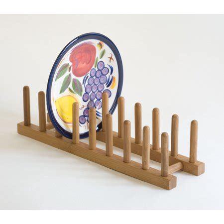 lipper bamboo plate rack holder walmartcom walmartcom
