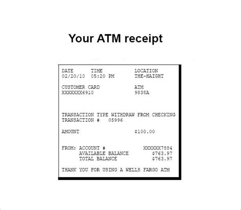 electronic receipts template penn working papers