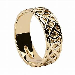 irish wedding ring celtic knots 18k gold With celtic wedding rings