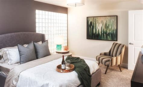 contemporary bedroom sherwin williams poised taupe