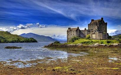 Castle Donan Eilean Scotland Castles Water Brown