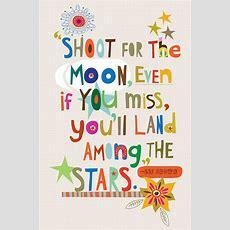 Prints  Shoot For The Moon Wall Print  Ecojot Eco