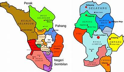 Map Selangor Kuala Lumpur Malaysia Districts Maps