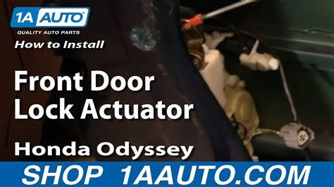 install replace front door lock actuator honda