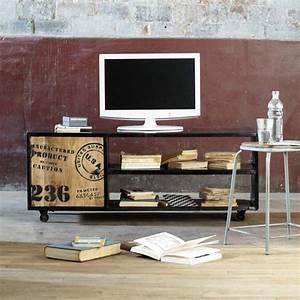 meuble pour poser la tv With meuble tv maisons du monde 5 deco retro amp vintage chez maisons du monde blog deco