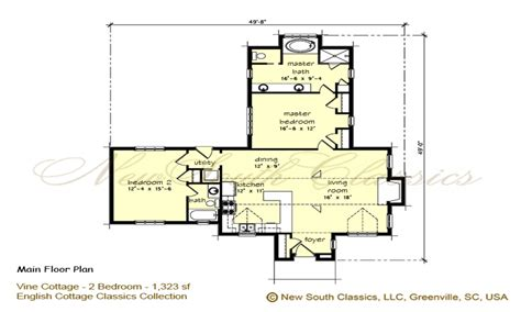 cottage floor plans 2 bedroom cottage plans 2 bedroom house simple plan 2