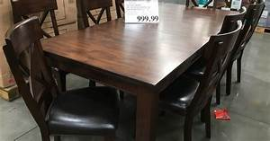 Imagio Home 9 Piece Solid Wood Dining Set Costco Weekender