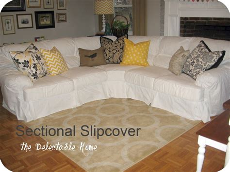 How To Make A Slipcover For A Sectional Sofa by The Delectable Home Impossible Sectional Slipcover Sew