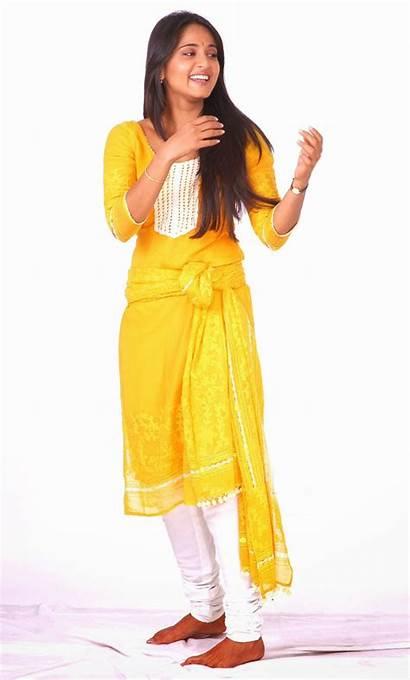 Anushka Shetty Yellow Churidar Photoshoot Tweet