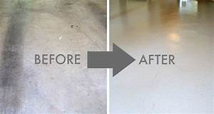 Painting a concrete garage floor for Can i paint a concrete floor