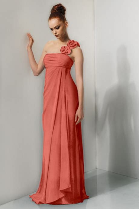 coral colored dress coral colored bridesmaid dresses