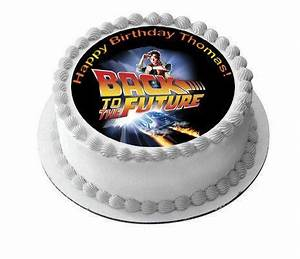 Back To The Future Edible Cake Topper  Cupcake Toppers