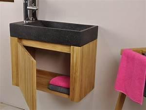 meuble lavabo suspendu pas cher maison design bahbecom With salle de bain design avec lave main pierre naturelle