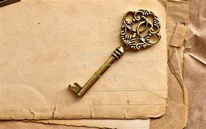 Key Paper Pages Wallpapers Yellowed Abstract Keys