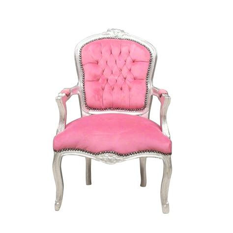 fauteuil louis xv rose style baroque forme cabriolet