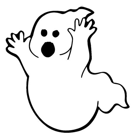 Ghost clipart coloring page   Pencil and in color ghost