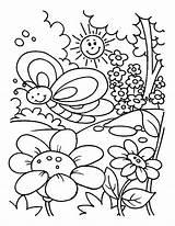 Coloring Garden Pages Spring Gardening Drawing Rose Preschool Kid Printable Flower Getdrawings Cry Smile Later Getcolorings Easily sketch template