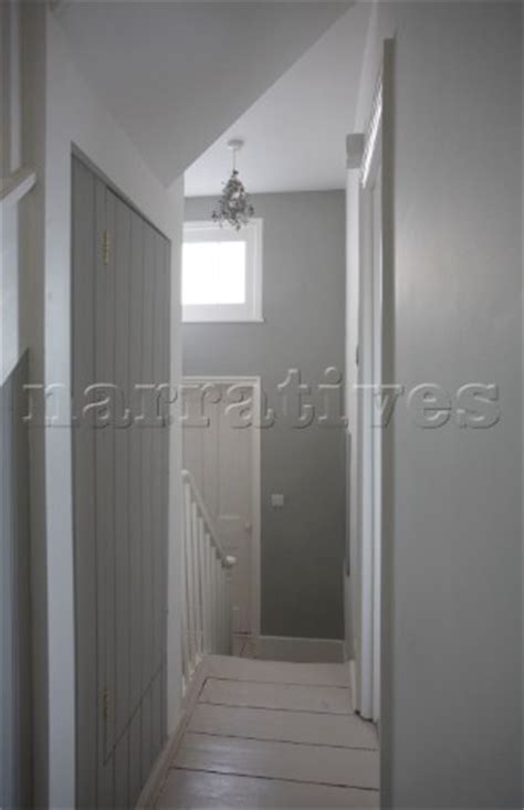 rg light grey  white painted hallway  beac