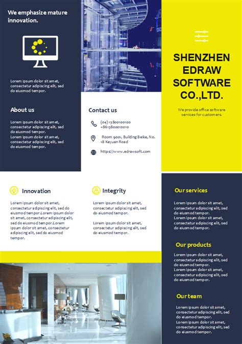 Company Profile Brochure Template Company Profile Brochure Free Company Profile Brochure
