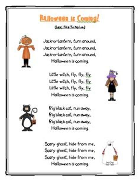 halloween preschool songs 1000 images about kindergarten poems on poem 310
