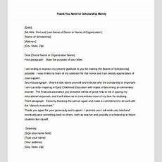 9+ Thank You Notes For Scholarship  Free Sample, Example