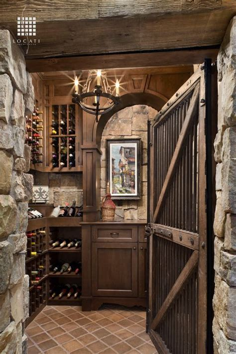 rustic wine cellar  foucaults orb chandelier
