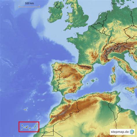stepmap kanaren relief uebersicht landkarte fuer