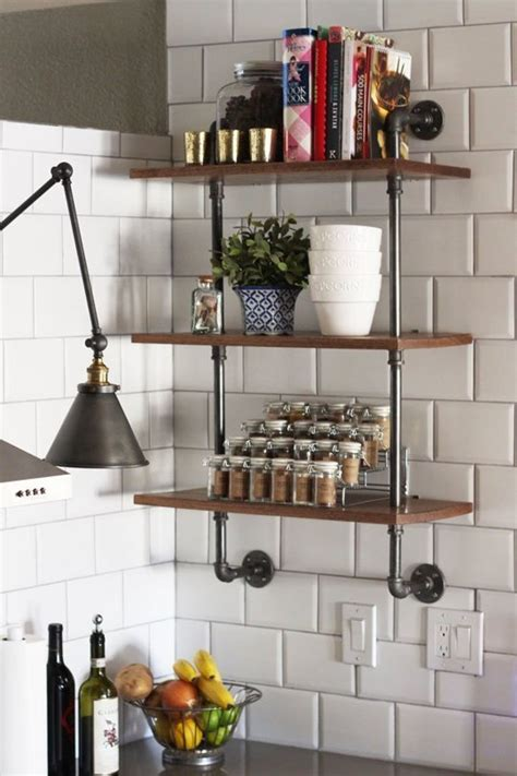 pipe shelves kitchen 65 ideas of using open kitchen wall shelves shelterness