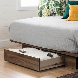Lit Double Avec Tiroir : lit plateforme avec tiroir de la collection holland de meubles south shore double grand ~ Teatrodelosmanantiales.com Idées de Décoration