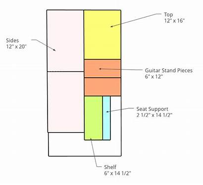 Guitar Stand Plans Stool Diy Plywood Pieces