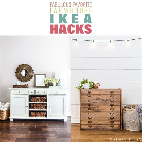fabulous favorite farmhouse ikea hacks  images