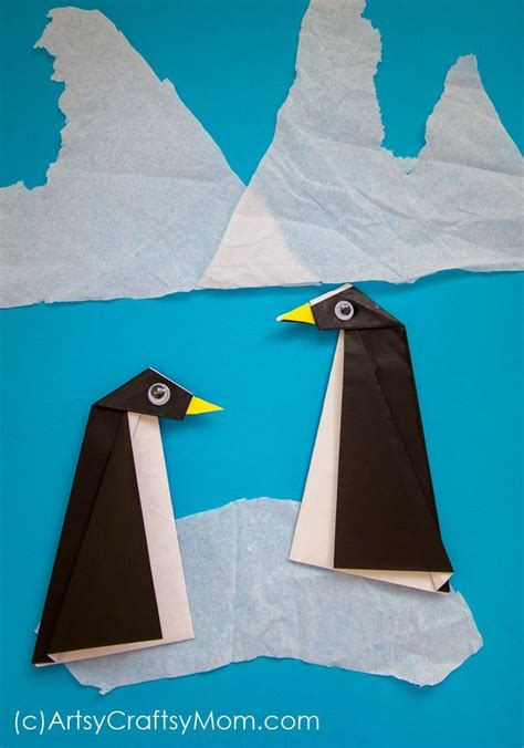easy origami penguin craft for 746 | Origami Penguin Craft 2726