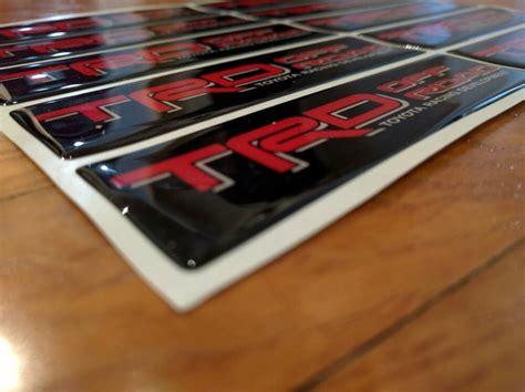weathertech floor mats replacement stickers trd replacement decal for weathertech floor mats tacoma world