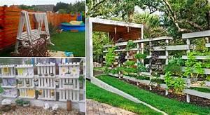 intimite et discretion fabriquez un mur brise vue en With brise vue avec jardiniere 9 transformer une palette en bois en jardiniare deco