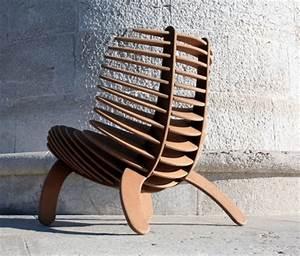 Mobilier Bois Design : fauteuil design bois sk cutting edge mobilier design ~ Melissatoandfro.com Idées de Décoration
