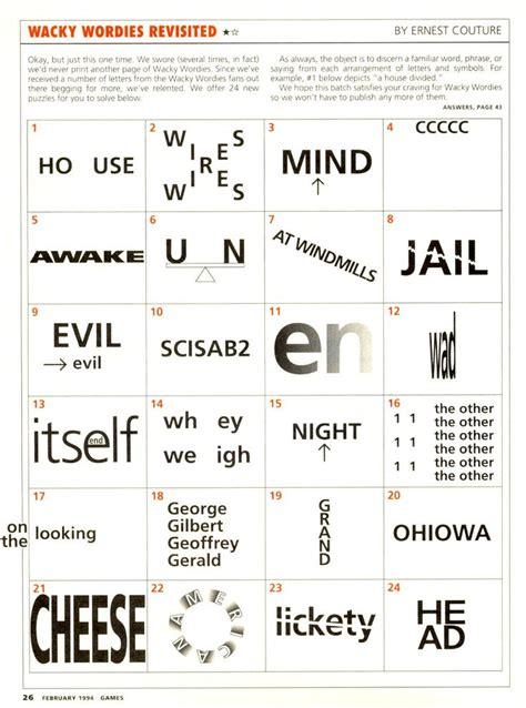 wackie wordies 68 wacky words word puzzles brain