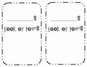 f is for first grade free poetry booklet With poetry booklet template