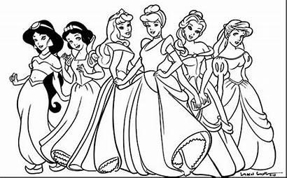 Belle Coloring Princess Disney Pages Getdrawings
