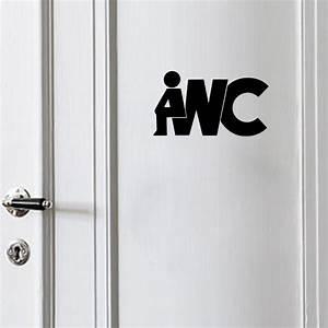 Black english word wc bathroom wallpaper diy removable for British word for bathroom