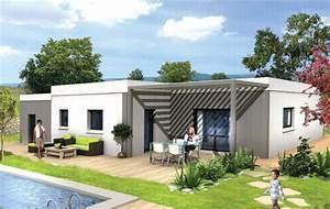 maison contemporaine plain pied toiture terrasse With site de plan de maison 11 terrasse