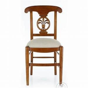 Chaise En Bois Massif : chaise en bois massif et tissu beige palmette ebay ~ Teatrodelosmanantiales.com Idées de Décoration