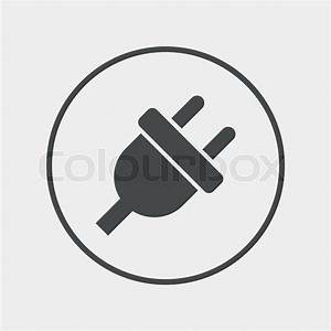 Electric plug sign icon. Power energy symbol. Flat ...
