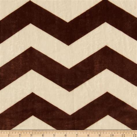 Minky Chevron Creambrown  Discount Designer Fabric