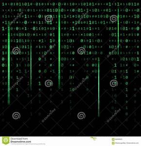 Binary Code Zero One Matrix Green Background Beautiful ...