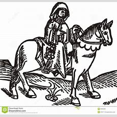 The Prioress Woodcut Isolated Vector Illustration Stock Vector  Image 9556299