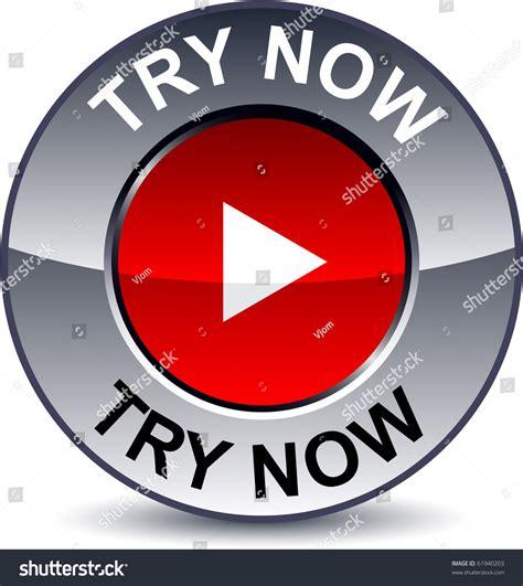 try now metallic button vector 61940203