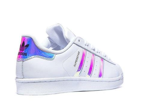Shoes, Adidas, Superstar, Metal Silver, Holographic, Lazer